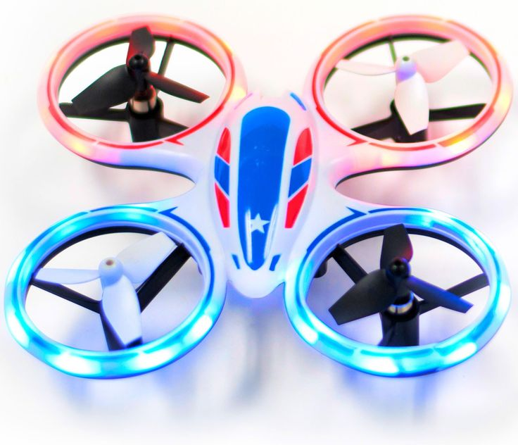 Wonder Chopper Sky Patroller LED Stunt Drone Quadcopter