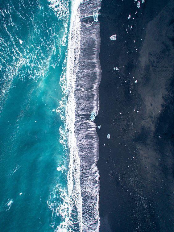 photo aérienne minimaliste