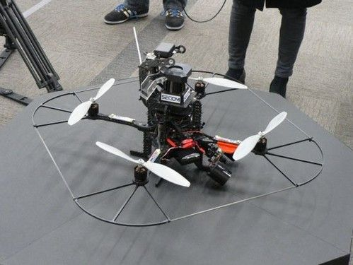 A Flying Drone Follows Intruders And Takes Pictures Them - Have a quadcopter yet...