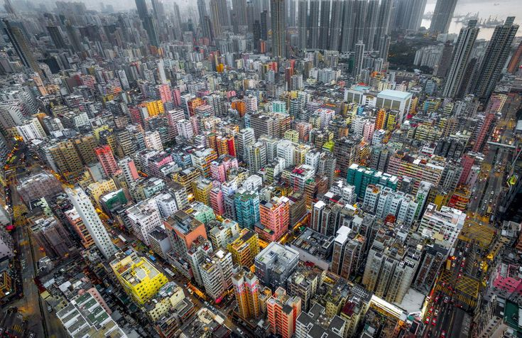 Urban Jungle. A drone view of Hong Kong by Andy Yeung, a photographer keen on la...