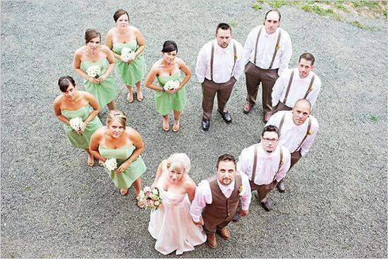 Drone wedding photography and videography will be a huge trend for weddings in 2016. Wedding party photo using a drone camera | Confetti.co.uk