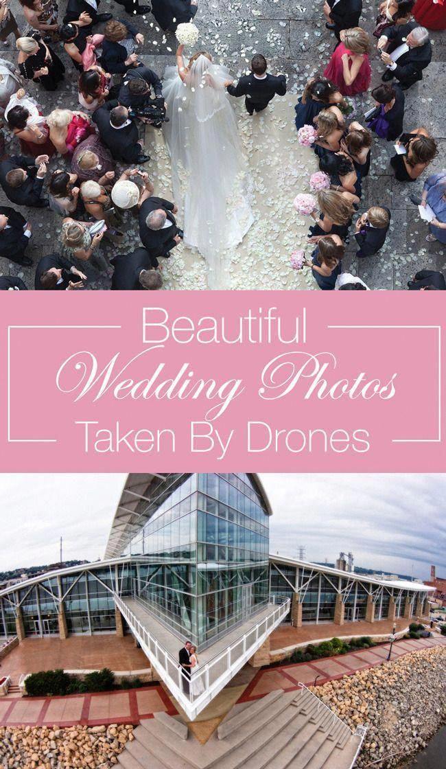 Drone wedding photography reaches new heights of creativity. #dronephotoshootideas #dronephotosandphotography