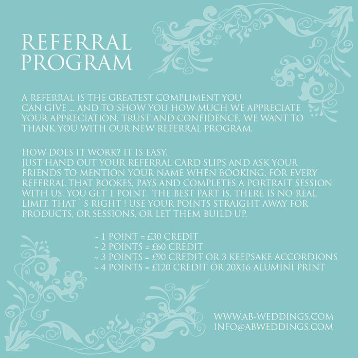 Photography referral program – AB WEDDING PHOTOGRAPHY