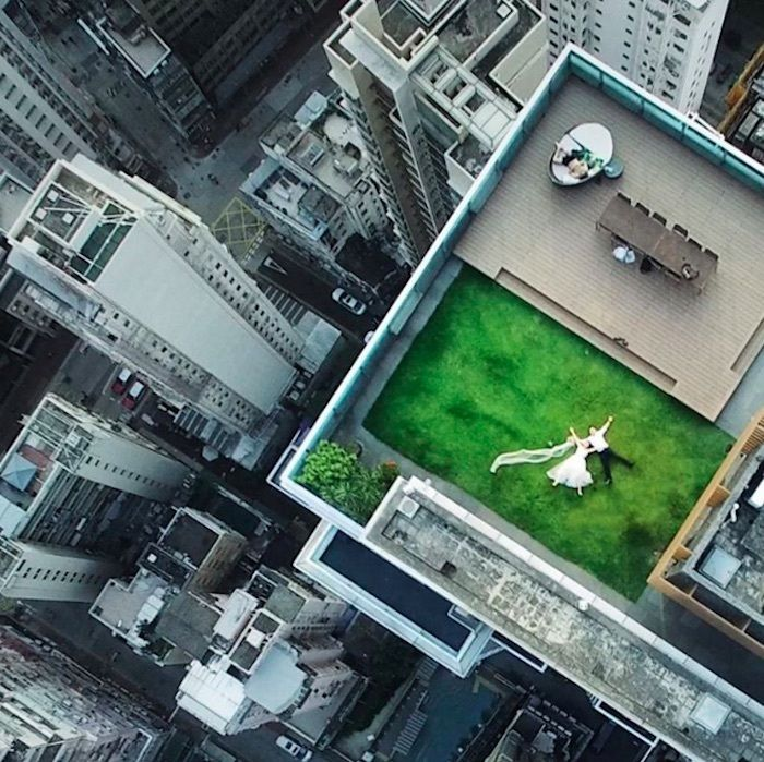 This Guy's Drone Accidentally Took The Most Romantic Wedding Photo Ever