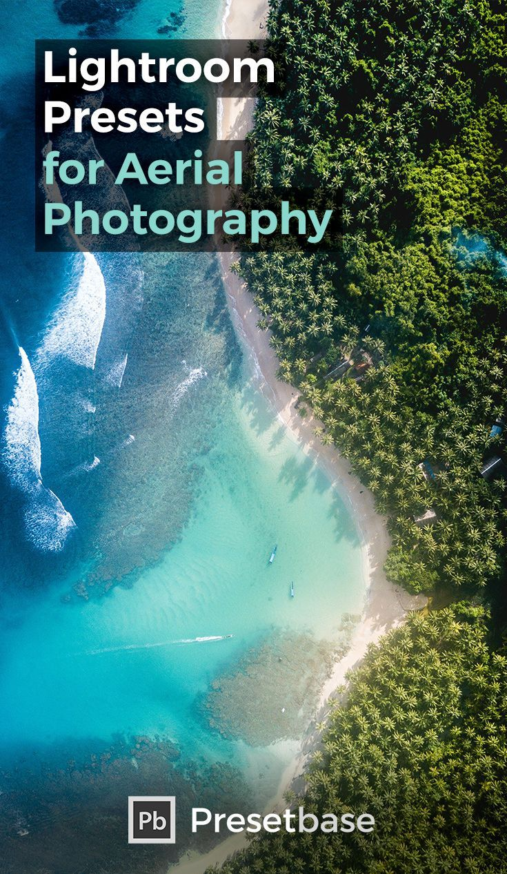 Aerial photography drone : 45 Lightroom Presets specially developed for aerial photography with drones like the DJI Mavic Pro/Air DJI Spark or the popular DJI Phantom.