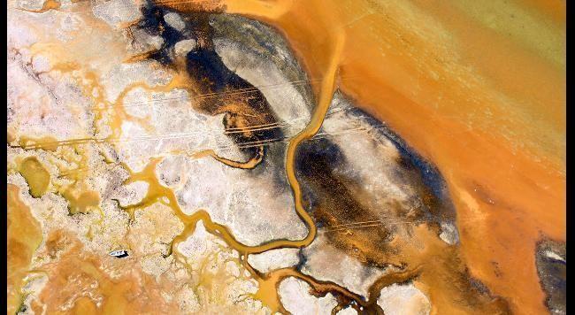Baja, Mexico where the Colorado River meets the Atlantic.