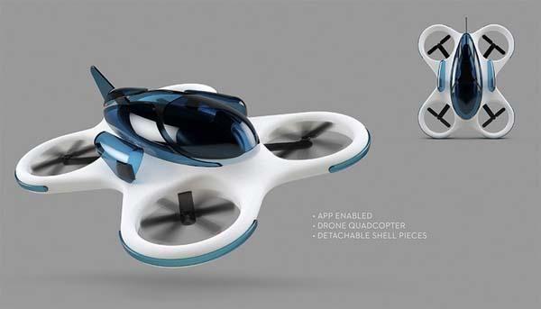 CrashCopter App-Enabled Drone Quadcopter