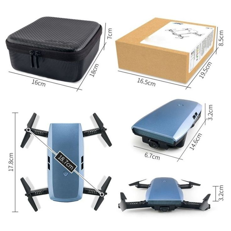 Mini Drone Quadcopter Fpv Caméra Hd 720p Wifi Smartphone Android Ios - Taille : TU