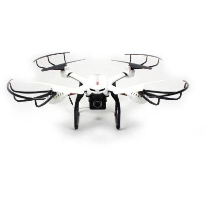 WonderTech Voyager 2.4GHz 6-Axis Gyro Drone Quadcopter with HD FPV Real Time Live Video Feed Camera, White