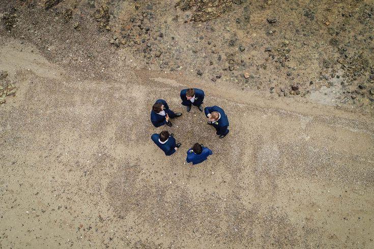 Groomsmen Drone Wedding Photo
