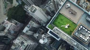 Search for 'wedding couple' in drone photo