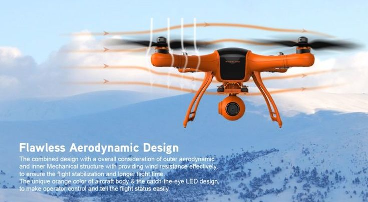 Drone Quadcopter : WINGSLAND M1 25mins Flight Time 5 8G FPV GPS With