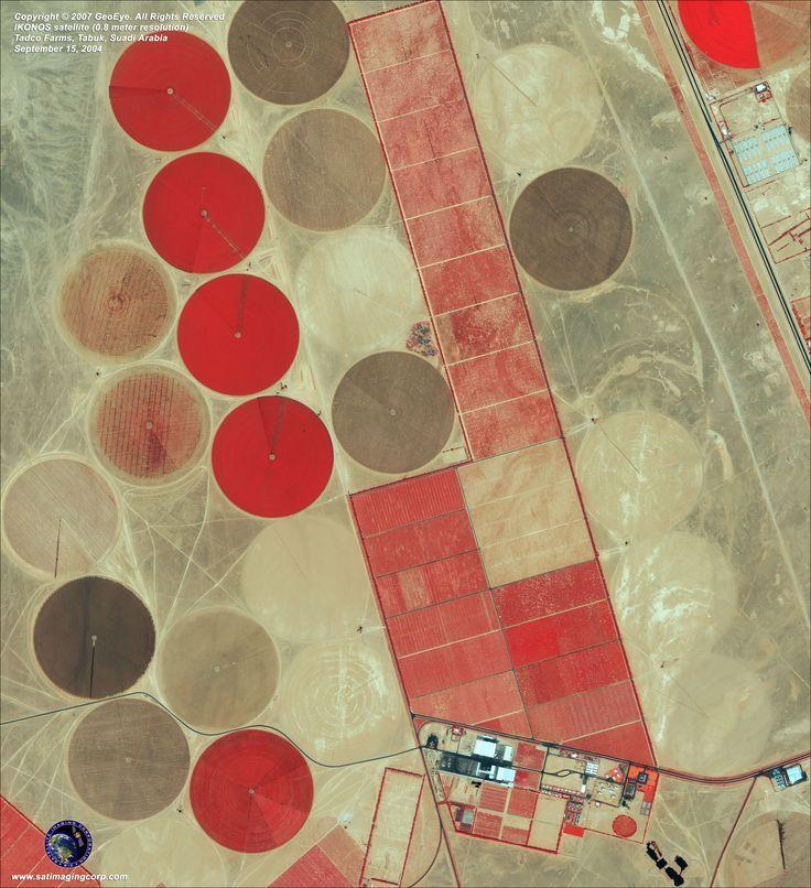 Aerial photography drone : Saudi Arabian arial agriculture shots (Aerial shot aerial photography photographie aérienne drone)