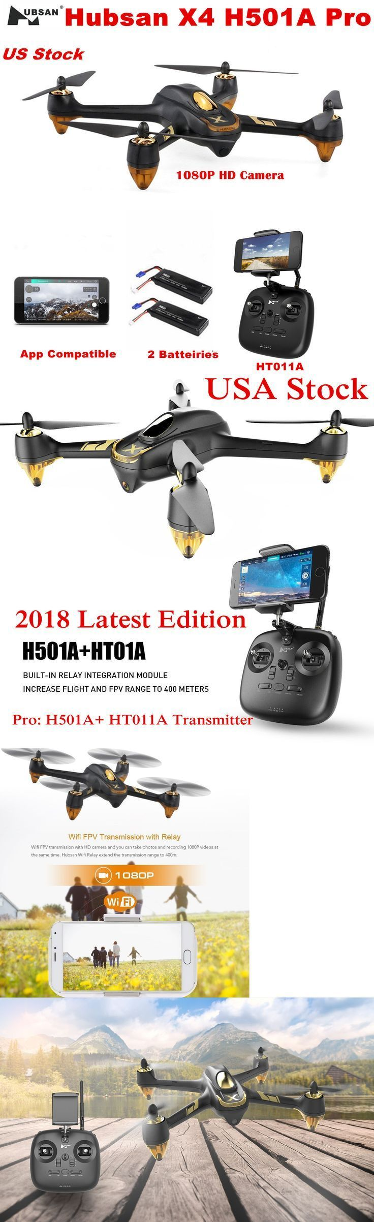 Drone Quadcopter : Drone Quadcopter : Quadcopters and Multicopters 182185: Hubsa...