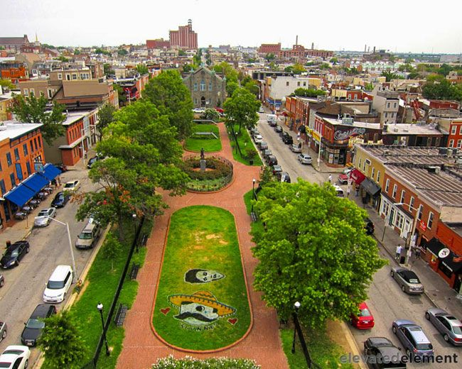 Canton Square, Baltimore, MD - Drone photography by Terry and Belinda Kilby
