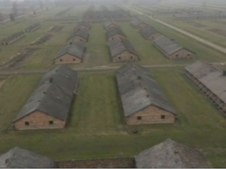 Chilling drone footage captures Auschwitz ahead of 70th anniversary of liberation