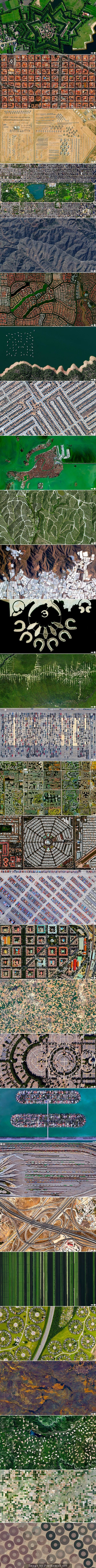People Drone Photography : Aerial views  So sad how humanity has crowded into horrible box shapes