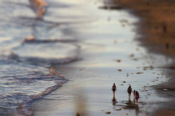 People Drone Photography : Paysage plage voyage tilt shift