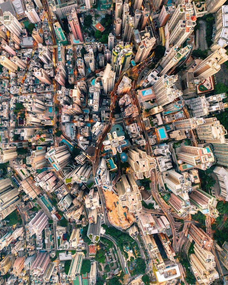 People Drone Photography : a view above seven million people