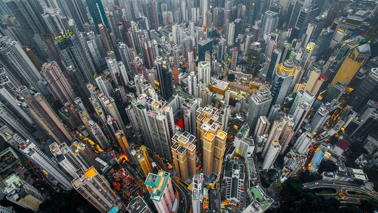These Drone Photos Show the Density of High-Rises in Hong Kong