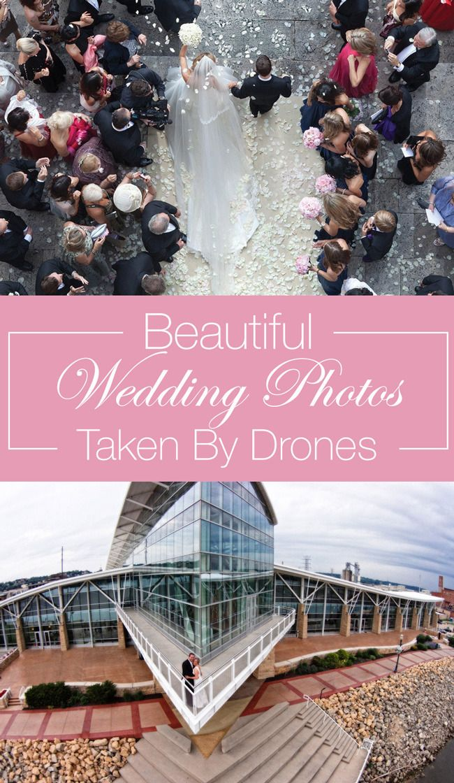 15 beautiful wedding photos taken by drones