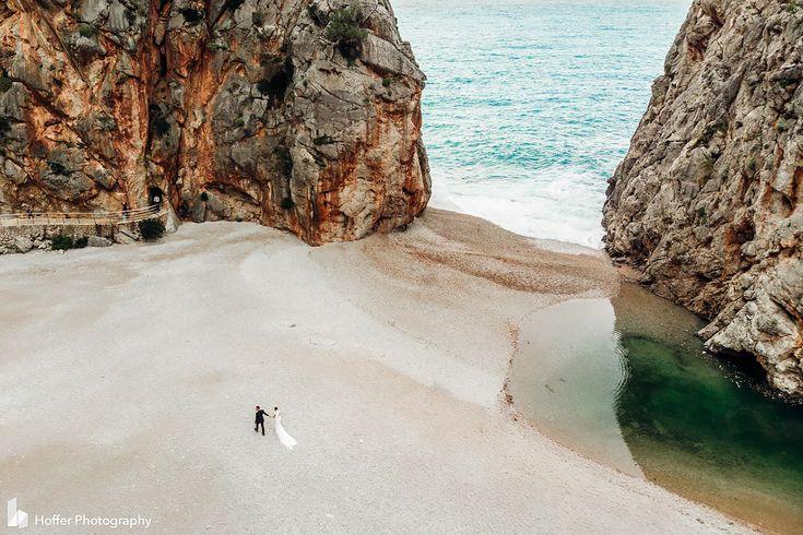 Drone Photo. Spanish Coast. Epic Wedding Photo. Hoffer Photography.com
