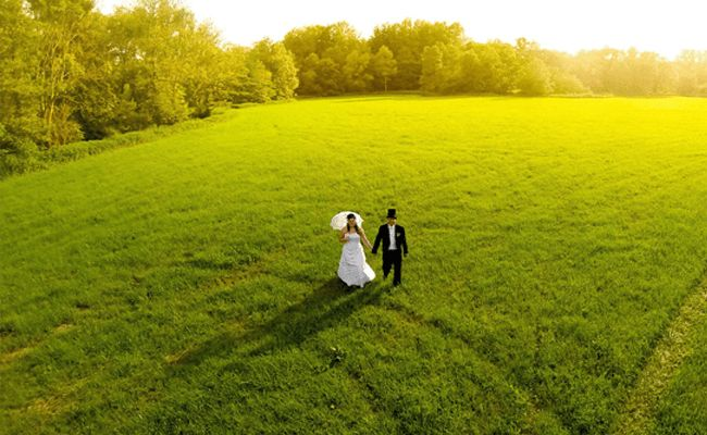 Drone Photography - married couple Czech Republic.