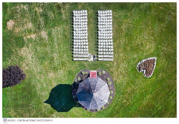 Wedding drone photography : Backyard Tented Wedding