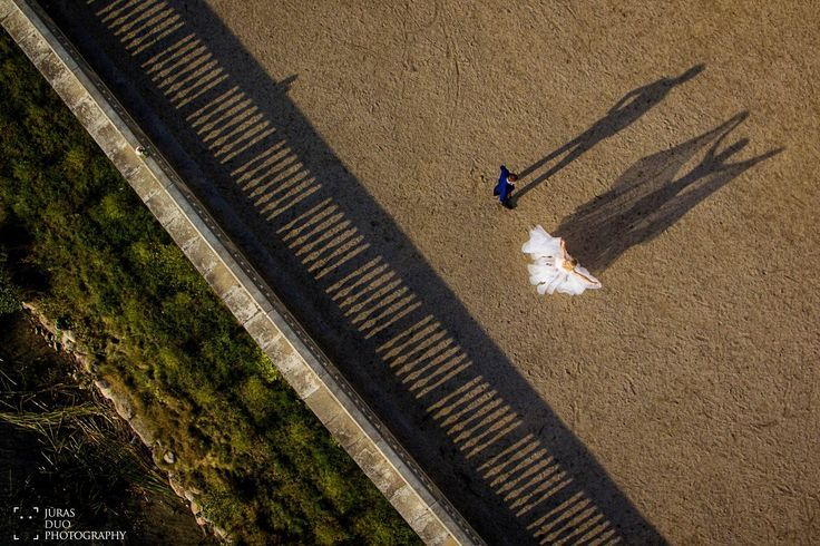 Wedding drone photography : Shadows photography drone wedding picture by Jūras Duo Photography (www.jurasduo.com)