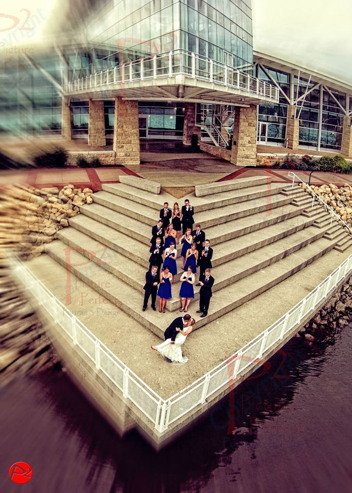 Wedding drone photography : This was photo was taken by a drone and would have been impossible to capture otherwise. (Credit: Picture Perfect Portrait & Design)