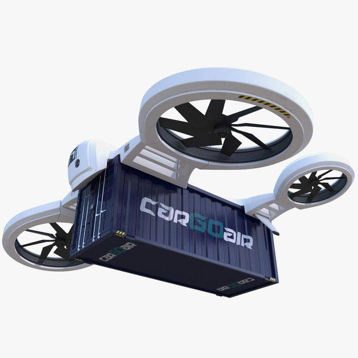 3d model heavy cargo quadrocopter drone #surveillancedrone