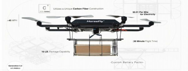 UPS Workhorse Horsefly Drone Detail
