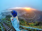 People Drone Photography : Brand ambassador Kailua Kat at the Stairway to Heaven...