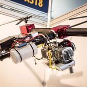 SOAPdrones variable pitch quadcopter uses petrol power for heavy-lifting endurance