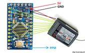 DIY PWM to PPM Converter for 2.4GHz Receiver using Arduino - Oscar Liang