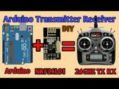 Wireless Remote Using 2.4Ghz NRF24L01 Module With Arduino | Nrf24l01 4 Channel / 6 Channel Transmitter Receiver for Quadcopter | Rc Helicopter | Rc Plane Using Arduino