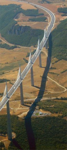 Aerial photography d Aerial photography drone : Aerial Photography Milau Viaduct...