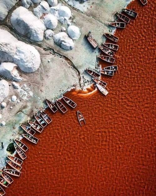 Aerial photography drone : ماجد الوبيران Lac Retba, Sénégal (?) - DronesRate.com | Your N°1 Source for Drone Industry News & Inspiration