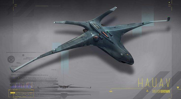 Drone Design : ArtStation - H.A.U.A.V, Trevor Brown - DronesRate.com   Your N°1 Source for Drone Industry News & Inspiration