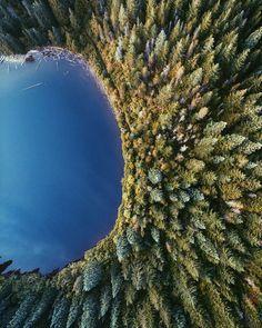drone photography | Mirror Lake in Oregon // Photo by Alex ONelio  Alex O'Nelio ...
