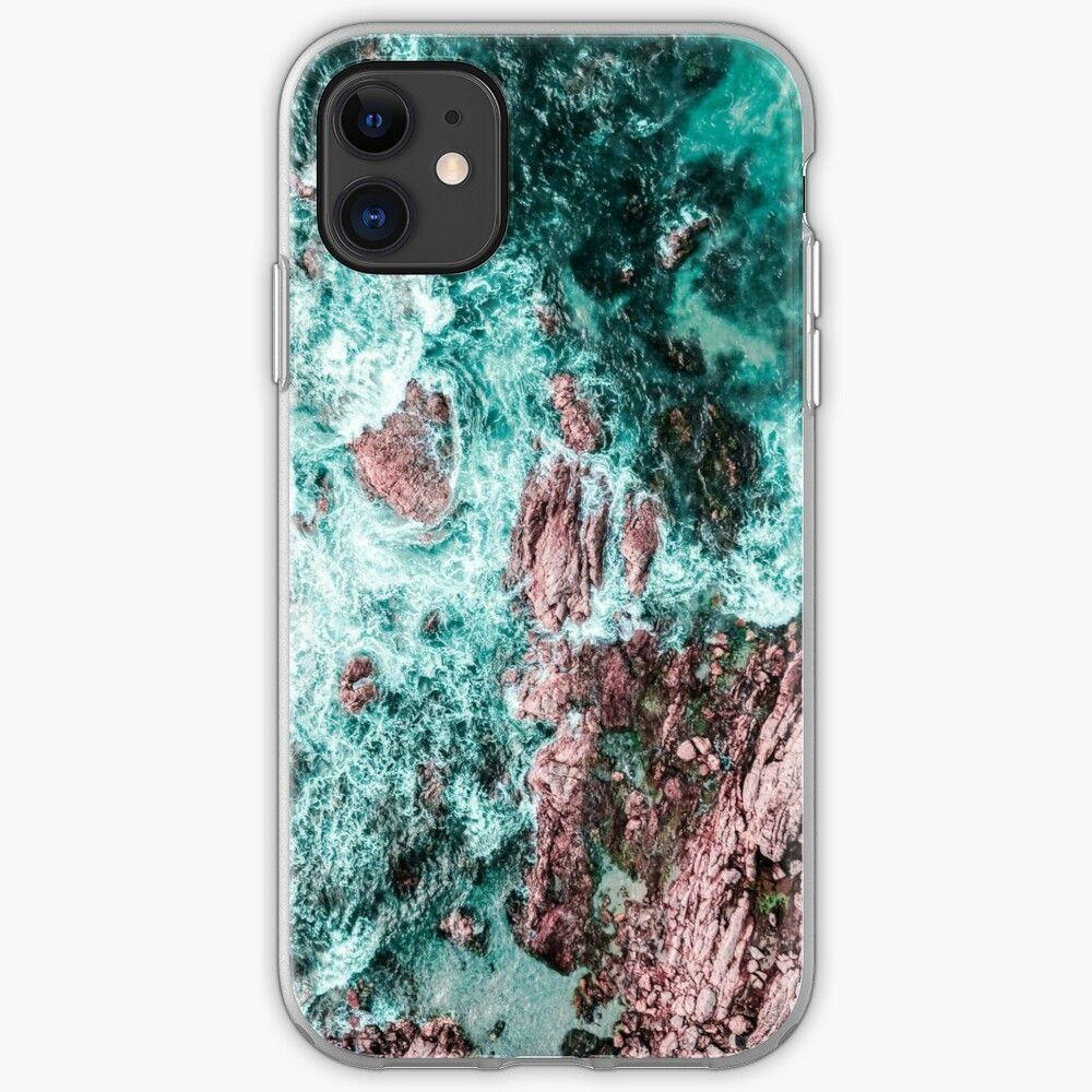 'Lagos, Algarve, Portugal. Landscape Print, Aerial Photography, Beach Print, Drone Photography, Ocean Waves, Ocean Print, Art Print, Teal Landscape Print, Aerial Beach' iPhone 11 - Soft by radub85