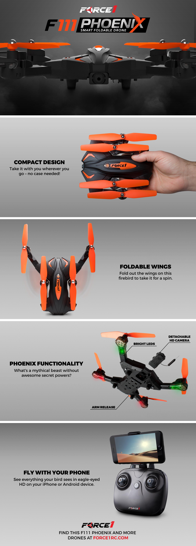 F111 Phoenix Foldable Wi-Fi FPV Live Video Drone