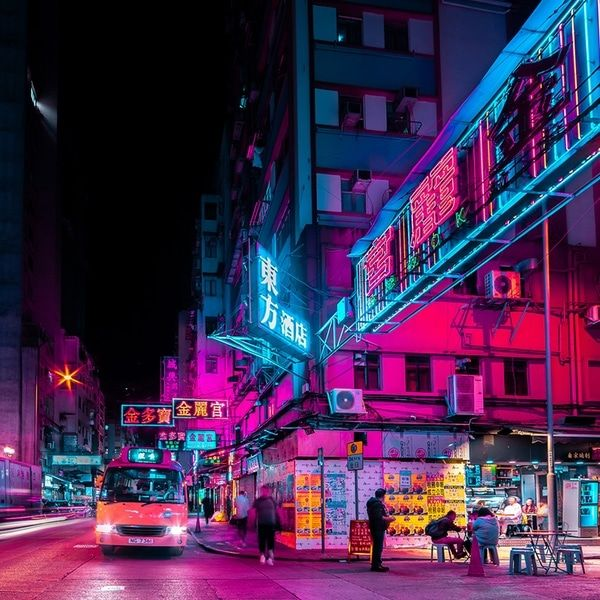 Electric Photos Capture the Energetic Buzz of Hong Kong's Nighttime Neon Streets