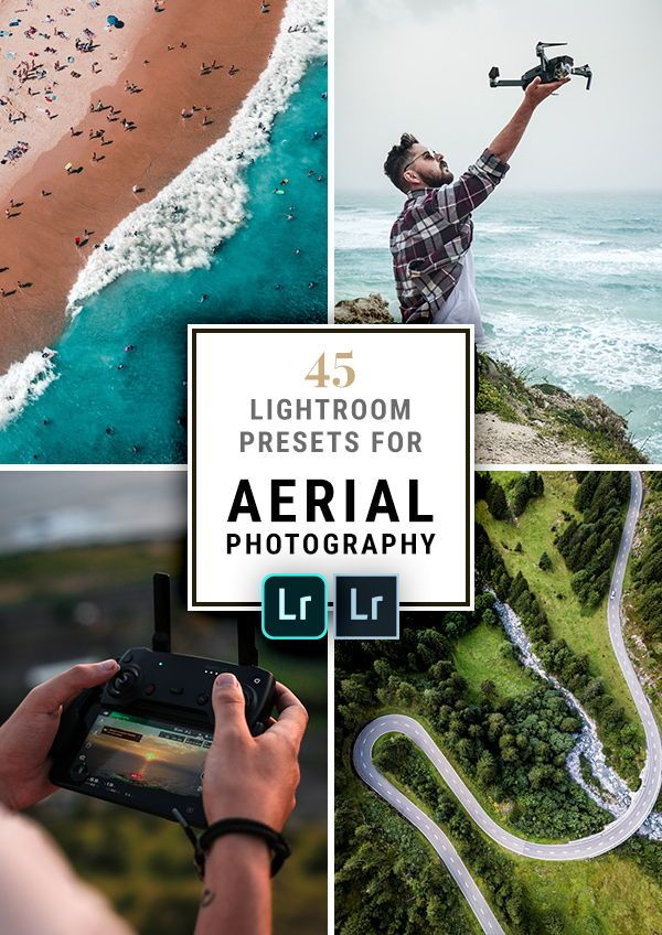 Aerial & Drone Photography Lightroom Presets (Desktop & Mobile DNG)