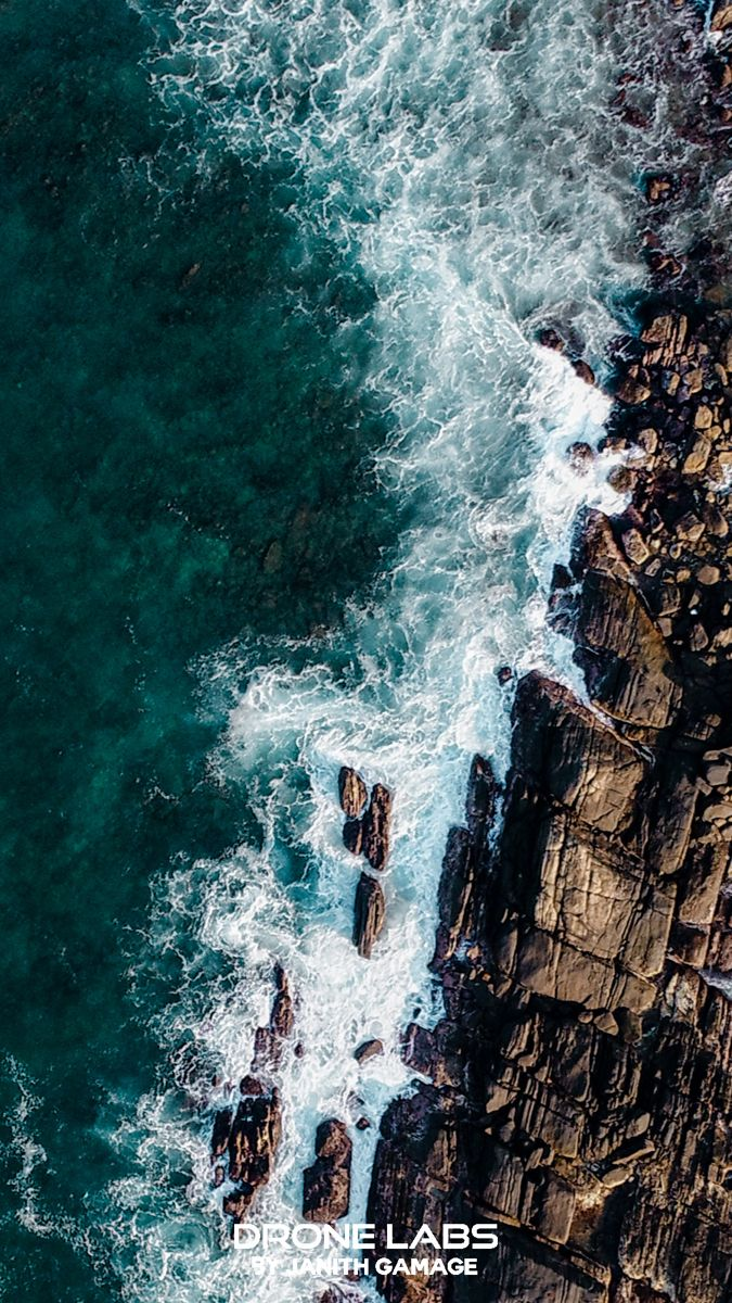 Aerial photography sea aerial view SriLanka galle
