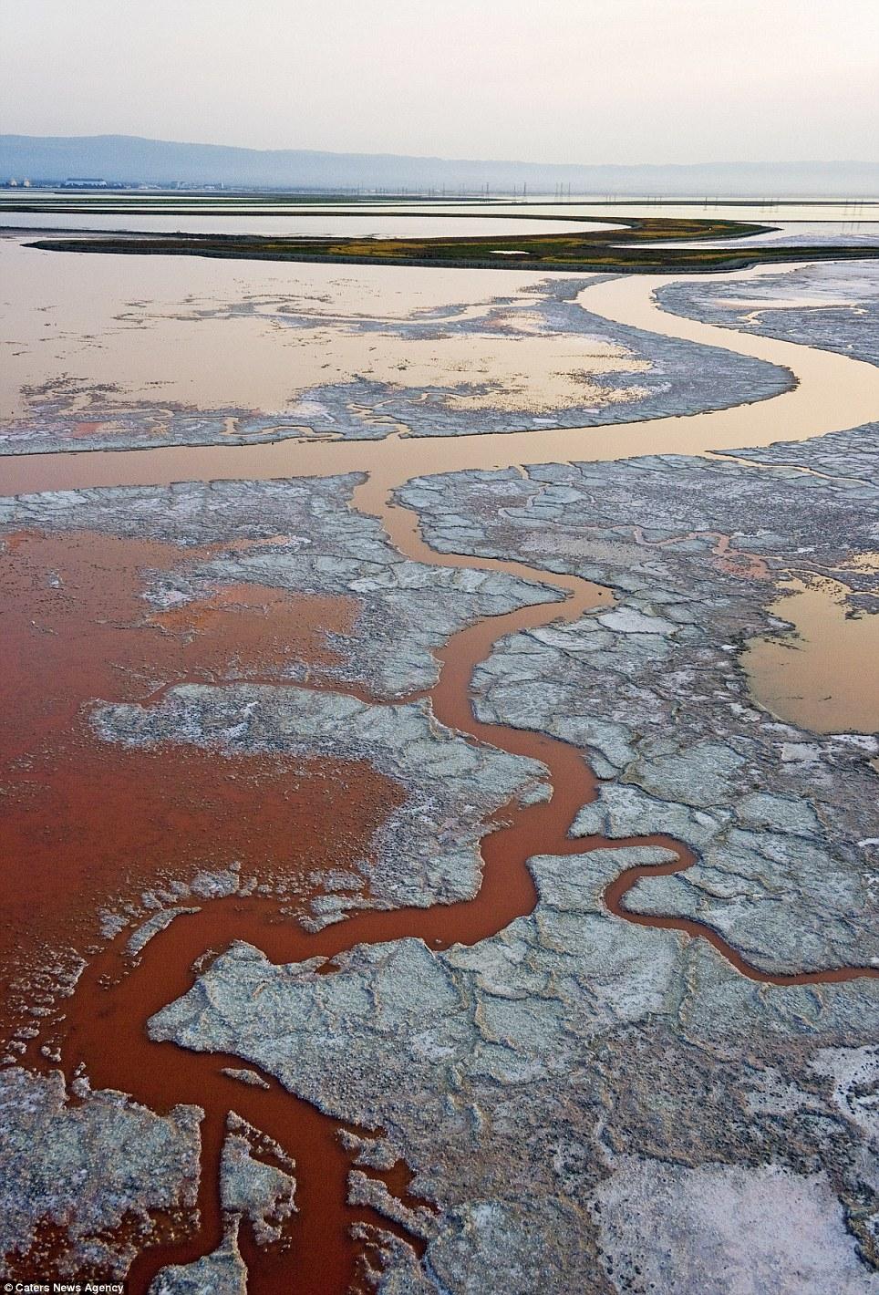 Amazing pictures show California's salt flats