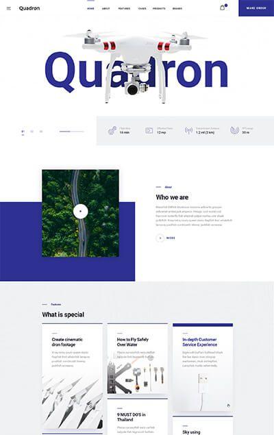 Quadron | Multipurpose Drone WordPress Theme