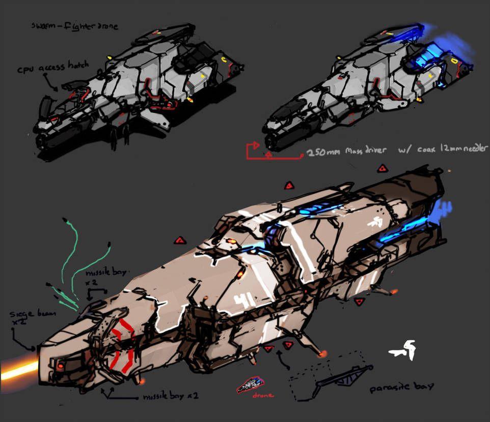 Drone 'n Corvette by Daemoria on DeviantArt