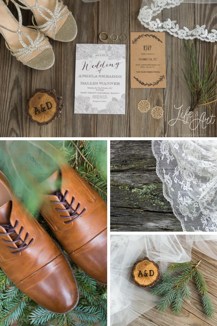 Flat Lay - Minneapolis Rustic Wedding