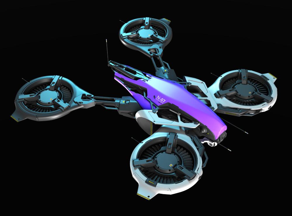 3D concept sci-fi-drone, Oleg_ Ovigon